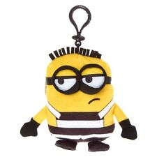 Despicable Me Jailbird Minion Plush Key Ring Keychain Backpack Licensed