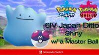 Pokemon Sword and Shield 6IV Shiny Japan Ditto w/ Master Ball or Destiny Knot
