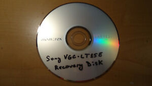 Sony VAIO VGC-LT10 Series Recovery Disc CD