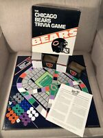 Vintage 80s NFL Chicago Bears Football Trivia Board Game 1985 Complete