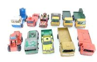 Vintage Matchbox Cattle truck, Stake truck Mercedes with defects - set of 11