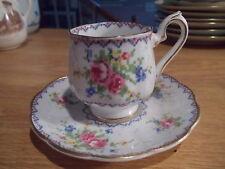 Royal Albert Petit Point Demitasse Cup & Saucer - Floral