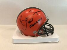 Brian Sipe Signed Cleveland Browns mini helmet COA Holo NFL MVP 1980 INSC