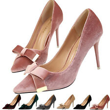 Women's Ladies High Heel Pointed-toe Stiletto Court Shoes Pumps Bow-knot Fashion