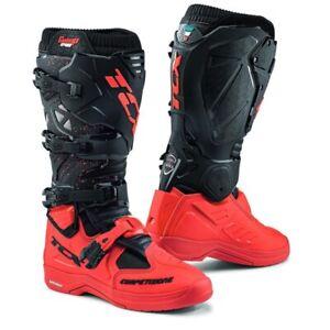 TCX Motocross Boots Comp Evo Michelin 2 Black Red 2021 UK 11 (46) New
