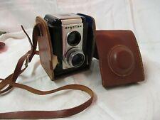 Vintage Argus Argoflex 75mm Box Camera with faux leather Case Strap