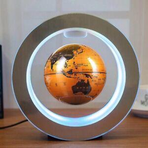 NEW Round LED World Map Floating Globe Magnetic Levitation Lamp Home Decor Gift