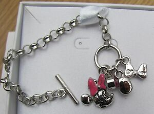 Minnie Mouse Charm bracelet Genuine with Disney box New NICE Gift. Licensed