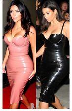 Kim Kardashian and Bella Hadid inspired black dress, latex, bodycon, size small