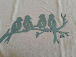 LOVE BIRDS HANGING METAL WALL ART RUSTIC/SHABBY CHIC HOME LIVING ROOM DECOR