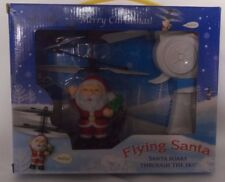 Flying Santa Claus Electric Infrared Sensor LED Flashing Light Christmas Gift