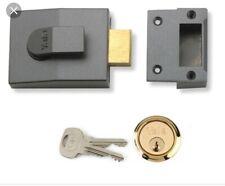 Yale Locks 89 Deadbolt Nightlatch DMG Brass Cylinder 60mm - P89DMGPB60