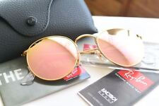 RAY-BAN WOMEN'S PINK ROUND METAL SUNGLASSES RB3447 112/Z2 50MM MATTE GOLD