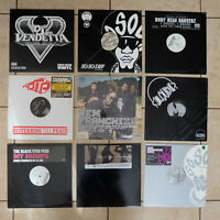"Lot of 7 Rap Hip Hop DJ Trance Single Vinyl 12"" Records 1990s-2000s – VG++ to EX"