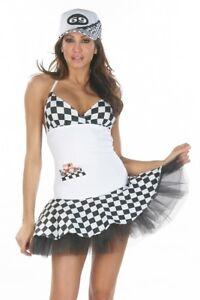 Boxenluder Kleid Minikleid ROT checker Gr. M 36-38  Grid Girl Racing