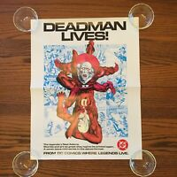 "DEADMAN LIVES! Neal Adams promo poster 1984 DC Comics 17""x 22"" vintage RARE"