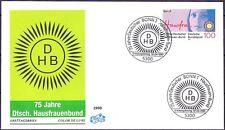 BRD 1990: Hausfrauen-Bund! FIDACOS-FDC der Nr. 1460 mit Bonner Sonderstempeln!