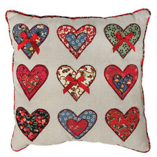 dotcomgiftshop PATCHWORK HEARTS MINI CUSHION