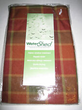 Park B Smith Water Shed Tuscany Red Green Plaid Indoor Outdoor Valance NEW