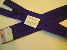 fermeture éclair Non séparable spirale mail 4 mm  L.40 cm VIOLET FONCE N°78/0