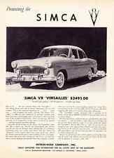 """1956-1957 SIMCA V8 """"VERSAILLES""""  ~  NICE ORIGINAL PRINT AD"""