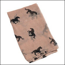 Horses All Over Scarf-Beige