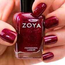 ZOYA ZP641 BLAZE mulberry red holographic glitter nail polish~FESTIVE FAVORITES