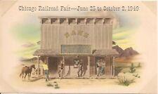 Bank of Gold Gulch Chicago Railroad Fair Postcard