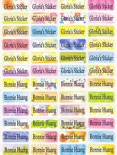 120 COLORFUL Custom Name Stickers-DAYCARE,SCHOOL,NURSERY (Buy 5 get 1 FREE)