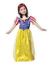CHILD GIRLS SNOW WHITE COSTUME KIDS PRINCESS FAIRY FANCY DRESS (4-6 & 7-9yrs)