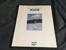 1997 Chevy Chevrolet S10 Blazer  Brochure Catalog Prospekt