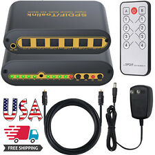 4X2 SPDIF TOSLINK Optical Digital Audio Converter Switcher With Optical Cable