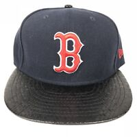 New Era Boston Red Sox MLB Tile Vize 59FIFTY Mens Fitted Cap Hat Size 7 3/8 Blue
