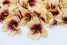 30pcs Lily flower Head Artificial Silk Flower Heads Wedding Dia 5cm Free ship