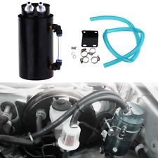 Noir Aluminium Auto Réservoir Récupérateur d'huile Oil Catch Tank Can Universel