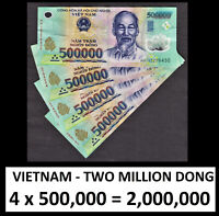 Fast Ship! 2 Million Banknotes 4x500,000 Litely Circ 2,000,000 VietNam Dong