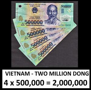 Vietnam Polymer 2 MILLION DONG 2,000,000 (4 x 500,000) Circulated