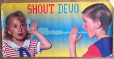 DEVO Shout 1984 Warner Brothers Promotional Poster - 1980s New Wave