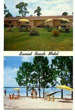 Sunset Beach Motel Sebring Florida Vintage Advertising Postcard
