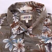 Campia Moda Hawaiian Shirt Men's Size XL Extra Large Short Sleeve Floral