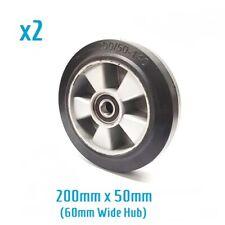 X2 200/50 - 140 rubber steer wheels for hand pallet/ pump truck (60mm hub width)