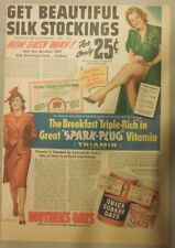 "Quaker Cereal Ad: ""Beautiful Silk Stockings"" Premium from 1940's 11 x 15 inches"