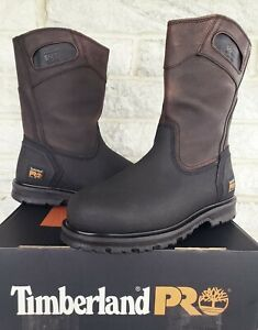 Timberland PRO Mens Powerwelt Pull On Steel Toe Work Boots Size 9 W 53522 $170