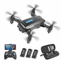 Eilsorrn Foldable Mini Drone with 4K HD Camera for Kids Adults WiFi FPV RC