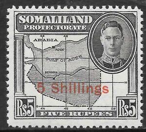 SOMALILAND 1951 5s on 5r, FM hinged. SG 135.