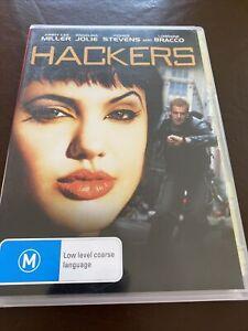 Hackers 1995 Dvd Movie Angelina Jolie Region 4 Like New
