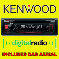 KENWOOD DAB Digital Radio Car Van CD MP3 USB Stereo iPod iPhone Ready Aerial NEW