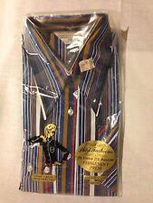 Blouse Women's Vintage Shirt Fashions Long Sleeve Stripes Size 36 Pocket