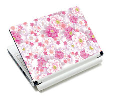 "Pink Flower Art Skin Sticker Protector For 11.6"" 12"" 13.3"" 14"" 15"" 15.4"" Laptop"