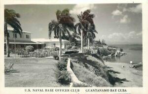 Guantanamo Bay Military US Naval Base Officers Club 1950s Photo Postcard 21-1792
